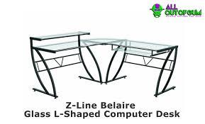 Z Line Belaire Glass L Shaped Computer Desk Z Line Belaire Glass L Shaped Computer Desk Hostgarcia