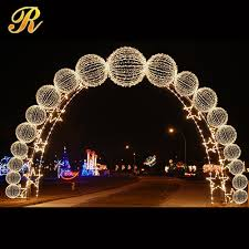2015 Hot New Gold&silver Led Light Crystal Wedding Arch For