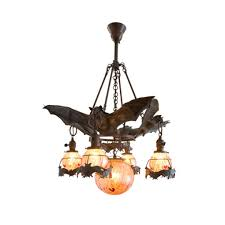 Glass Orb Chandelier Bronze Bat Chandelier With Glass Orbs Chandeliers Black 1stdibs