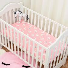 Crib Mattress Fitted Sheet Muslinlife Flamingo Cactus Pattern Crib Mattress Protector Baby