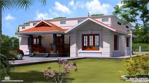 front elevation of single floor house kerala home design and
