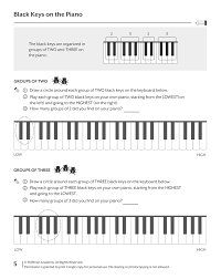 printables u0026 audio for piano unit one lessons 1 20 hoffman academy