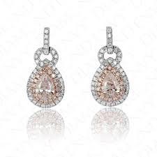 pink diamond earrings pink diamond earrings fancy light purplish pink diamonds 0 55ct