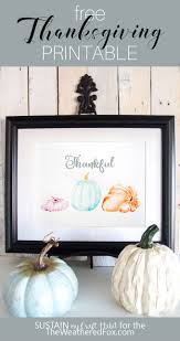 watercolor pumpkins free thanksgiving the weathered fox
