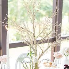 wedding centerpieces birch tree branch