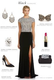 black tie attire black beaded evening gown black tie attire beaded top and black tie