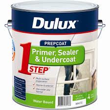 Bathroom Primer Dulux 4l 1 Step Acrylic Based Primer Sealer Undercoat Bunnings