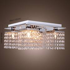 lighting ideas 4 light chrome flush mount chandelier for interior