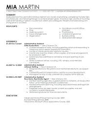 office assistant resumes resume format for office admin resume templates office office