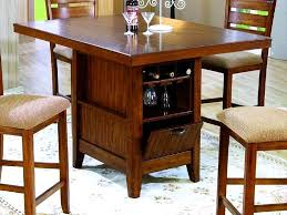 Kitchen Bar Table With Storage Fantastic Dining Table Wine Storage Kitchen Table With Wine