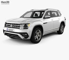 atlas volkswagen white volkswagen atlas r line with hq interior 2017 3d model hum3d