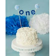 cake banner topper royal blue one cake banner birthday banner cake topper cake