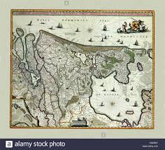 Map Of Holland Map Of Holland 1682 Stock Photo Royalty Free Image 132199339 Alamy