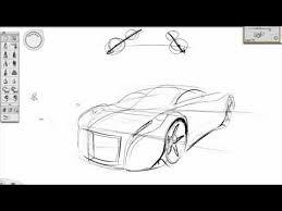 basic perspective car sketch tutorial youtube 1 car sketch