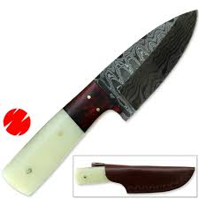 general pattons razor sharp damascus knife 1095 high carbon steel