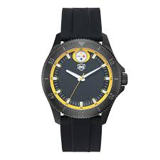 Pittsburgh Jack Pittsburgh Steelers Jack Mason Men U0027s Blackout Silicone Watch