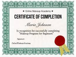 makeup artistry certification makeup school certificate images