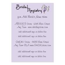 wedding registry cards wedding shower registry business card templates bizcardstudio