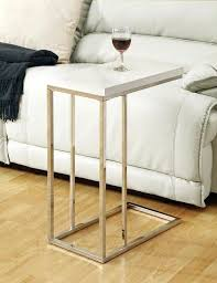 sofa snack table walmart diy white end small wood tray couch side