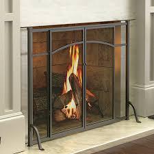 hyde park flat panel fireplace screen with doors improvements