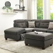 Sectional Sofa With Ottoman Fabric Sectionals Microfiber Sectional Sofas Microsuede