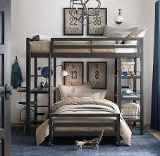 Industrial Bunk Beds Industrial Loft Study Bunk Bed With 1 Desk Boys Room