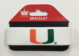 rubber wrist bracelet images Miami hurricanes silicone rubber wristband bracelet white jpg