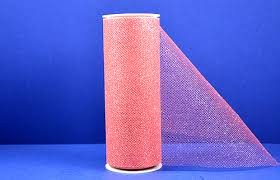tulle rolls 6 x10 yards 30ft coral glitter tulle rolls pack of 6 tulle