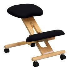 ergonomically correct desk chair amazon com flash furniture mobile wooden ergonomic kneeling chair