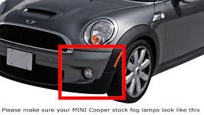oem fit mini cooper 16w led daytime running lights fog lamps kit