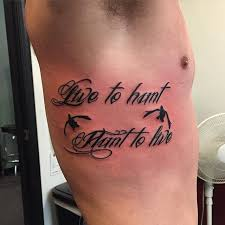 quote tattoo for hunter creativefan