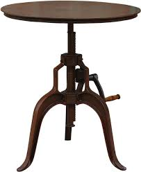Industrial Bistro Table Solid Mango Wood Pub Table Industrial Indoor Pub And Bistro