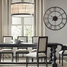 hall oversized wall clocks with small glass windows and brown