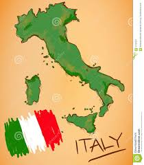 Italy National Flag Italy Map And National Flag Vector Stock Vector Image 57156237
