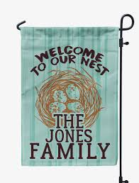 Welcome Flag Personalized Welcome To Our Nest Flag Mostly Pillows