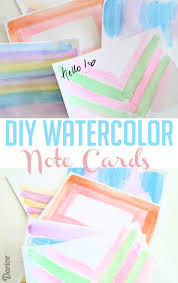 watercolor notecards diy watercolor note cards tutorial darice