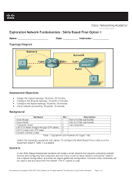 ccna 1 skills final with answers documents