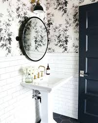 bathroom with wallpaper ideas black and white bathroom wallpaper epicfy co