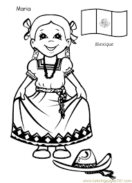 around the world printable free printable coloring page kids