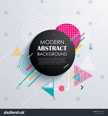 abstract circle geometric pattern design background stock vector
