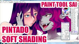 aya yanagisawa paint tool sai pintado soft shading youtube