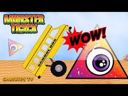 bus monster truck videos monster trucks buses for children teaching counting