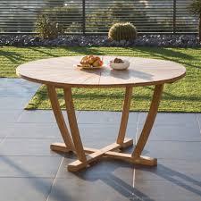 teck grade a table de jardin teck brut grade a jsscene com des idées