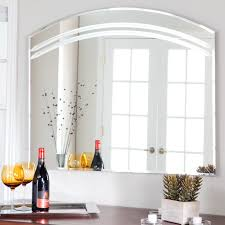 bathroom wall mirrors frameless décor large frameless arched wall mirror 39 5w