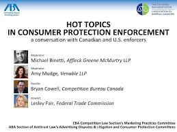 us federal trade commission bureau of consumer protection topics in consumer protection enforcement ppt