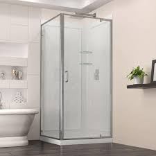 Bathroom Shower Doors Home Depot by Square Corner Shower Stalls U0026 Kits Showers The Home Depot