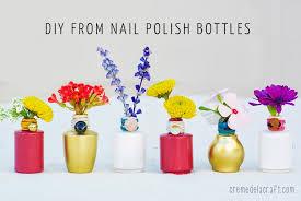 Cheap Plastic Flower Vases Diy Flower Bud Vases From Nail Polish Bottles