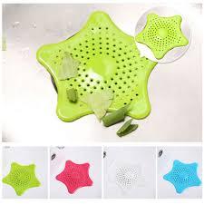 silicone starfish kitchen sink strainer basin shower hair filter bathroom hair catcher drain filter zoom