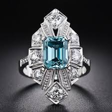 vintage zircon art deco jewelry december birthstone