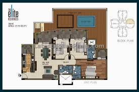 large 3 bedroom apartment floor plan in area of 2200 sft latest